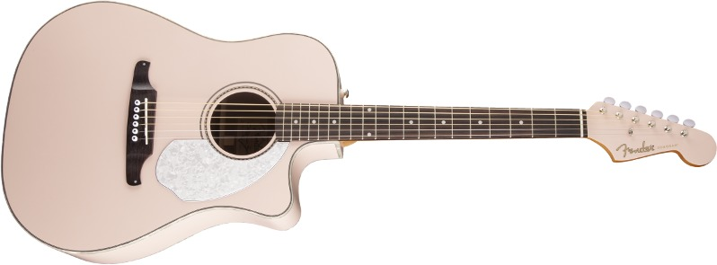 96cb635d20 Fender Sonoran SCE Acoustic Electric Guitar (Shell Pink) | Raru