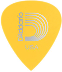 Planet Waves 6DYL3 Duralin Precision .70mm Light Medium Pick (Yellow) - Cover