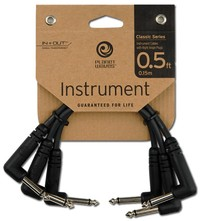 Planet Waves PW-CGTP-305 Classic Series Patch Cable Right Angle (3 Pack) - Cover
