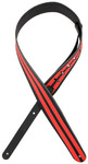 Planet Waves L25W1400 2.5 Inch Racing Stripes Guitar Strap (Black and Red)