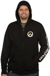 Overwatch Logo Men's Zip up Hoodie (Small) - Cover
