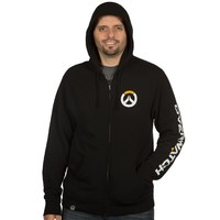 Overwatch Logo Men's Zip-Up Hoodie - Black (XX-Large) - Cover