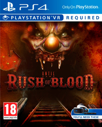 Until Dawn: Rush of Blood (PS4) - Cover