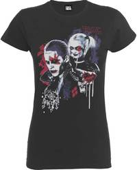 Suicide Squad - Harley Puddin Ladies T-Shirt (Large) - Cover