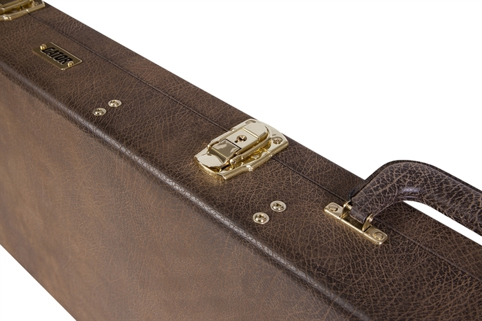 e29aaf97976 Gator GW-ELECT-VIN Deluxe Wood Vintage Electric Guitar Case (Vintage Brown)