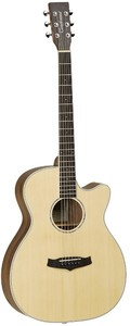 Tanglewood TPE SFCE DS Premier Exotic Super Folk Acoustic Electric Guitar (Natural Satin)
