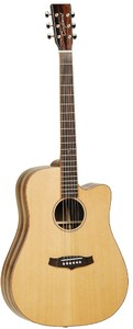 Tanglewood TWJD CE Java Series Dreadnought Acoustic Electric Guitar (Natural Gloss)