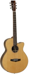 Tanglewood TWJSF CE Java Series Super Folk Acoustic Electric Guitar (Natural Gloss)
