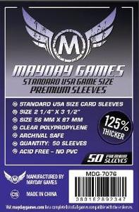 Mayday Games - Standard USA Premium Card Sleeves (50 Sleeves) - Cover