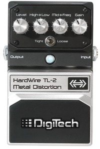 DigiTech TL-2 HardWire Guitar Metal Distortion Pedal - Cover