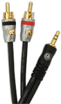 Planet Waves PW-MP-05 Dual RCA to Stereo Mini Cable – 5ft
