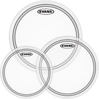 Evans ETP-EC2SCTD-F EC2S Frosted Tom Batter Drum Head Pack (10 12 14 Inch) - Cover