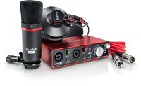 Focusrite Scarlett 2i2 Studio Package (Including Headphones & Microphone)