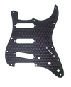 Fender 11-Hole American Standard Stratocaster SSS Pickguard (Engine Turned Black)