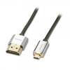 Lindy 1m Micro HDMi - HDMi Slim Cromo Cable