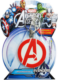 Avengers Logo Bendable Keychain - Cover