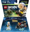 LEGO Dimensions: Back to the Future Doc Brown Fun Pack (For PS3/PS4/Xbox 360/Xbox One) Cover
