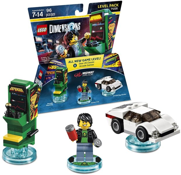 LEGO Dimensions 1: Midway Retro Gamer Level Pack (For PS3/PS4/Xbox ...