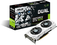 ASUS - White housing with Dual fan nVidia GeForce GTX 1070 8GB OC DDR5 Graphics Card - Cover