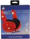 4 Gamers PR04-10 Stereo Gaming Headset - Red (PS4)
