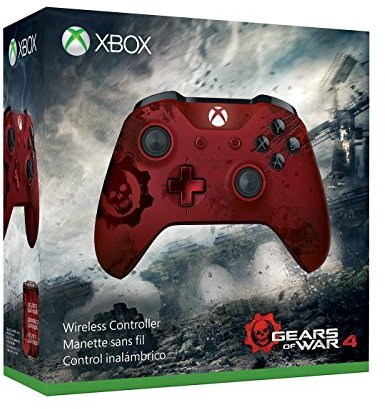 Microsoft Wireless Controller: Gears of War 4 - Red/Grey (Xbox One Includes  Bluetooth for gaming on Windows 10 PCs and tablets)