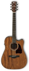 Ibanez AW54CE-OPN Artwood AW Series Dreadnought  Acoustic Electric Guitar (Open Pore Natural) - Cover