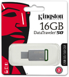 Kingston Technology DataTraveler 50 - 16GB USB 3.0 (3.1 Gen 1) Type-A USB flash drive - Green/Silver
