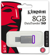 Kingston Technology DataTraveler 50 - 8GB USB 3.0 (3.1 Gen 1) Type-A USB flash drive - Purple/Silver