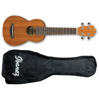 Ibanez UKS10 Ukulele Series Soprano Ukulele with Bag (Open Pore)
