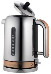 Dualit - Classic Kettle 1.7L Polished Chrome with Copper Trim - Cover
