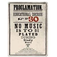 Harry Potter – Proclamation No 30 A3 Metal Wall Sign