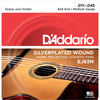 D'Addario EJ83M 11-45 Gypsy Jazz Silver Platted Ball End Medium Acoustic Guitar Strings