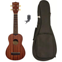 Kala MK-S-PACK Makala Series Acoustic Soprano Ukulele Pack (Natural)