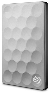 Seagate 1TB 2.5 inch Ultra Slim Portable External Hard Drive - Platinum - Cover