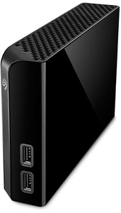 Seagate - Backup Plus Hub 8TB Backup USB 3.0 External Hard Drive - Black - Cover
