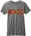 AC/DC -  Classic Logo Burnout Mens Grey T-Shirt (Medium) Cover