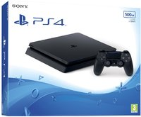Sony PlayStation 4 Slim 500GB Console - Jet Black (PS4) - Cover