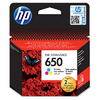 HP 650 Tri-Colour Ink Cartridge-200 Pages