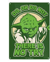 Star Wars – Yoda Try Tin Sign (Metal Wall Sign A5) Cover
