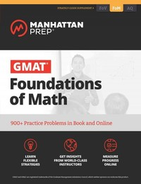 GMAT Foundations of Math - Manhattan Prep (Paperback) - Cover