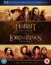 Hobbit Trilogy/The Lord of the Rings Trilogy (Blu-ray)