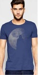 Star Wars Rogue One - Death Star Vader Silhouette Mens Blue T-Shirt (Small)