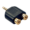 Lindy 2 RCA Stereo F to 3.5mm M Jack Adapter