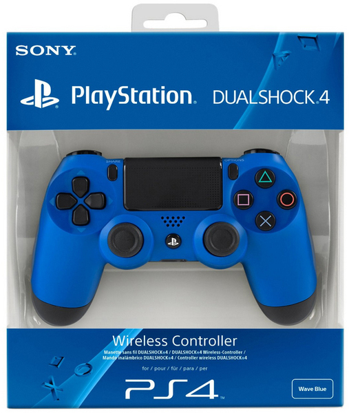 Sony PS4 Dualshock 4 Controller (Blue) + DS4 USB Wireless Adaptor for  Windows PC/Mac + Wireless Stereo Headset 2 0 - White