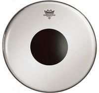REMO CS-1224-10 24 Inch Controlled Sound Smooth White Bass Drum Batter Drum Head with Black Dot - Cover