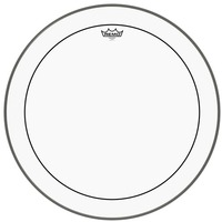 REMO PS-1324-00 24 Inch Pinstripe Clear Bass Drum Batter Drum Head - Cover