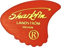 Sharkfin Guitar Plectrum Thin (Red) - Cover