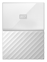 WD - My Passport 1TB External Hard Drive USB 3.0 (3.1 Gen 1) 2.5 inch - White - Cover