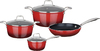 Legend - Ruby Chef 7-Piece Forged Cookware Set - Red