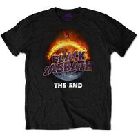 Black Sabbath - The End Mens Black T-Shirt (Large)